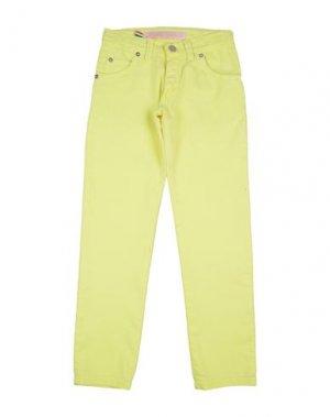 Повседневные брюки ALLIGALLI. Цвет: желтый