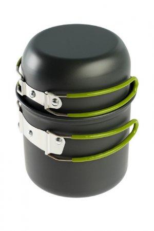 Набор посуды туристический Maclay. Цвет: черный