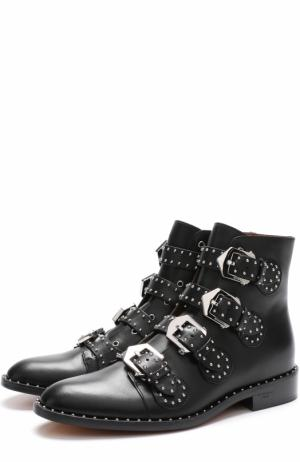 Кожаные ботинки Elegant Studs с заклепками Givenchy. Цвет: чёрный