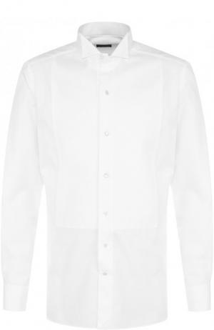 Хлопковая сорочка с воротником бабочка Ermenegildo Zegna. Цвет: белый