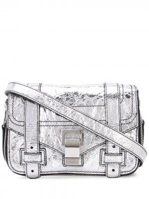 Маленькая сумка через плечо Ps1+ Proenza Schouler. Цвет: серебристый