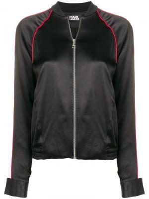 Куртка-бомбер Karl Signature Lagerfeld. Цвет: черный