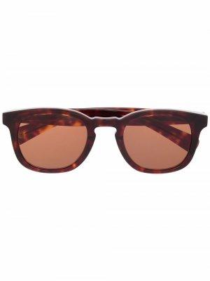 Солнцезащитные очки Kinney X в круглой оправе Garrett Leight. Цвет: коричневый