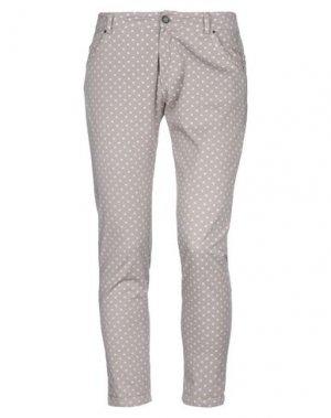 Повседневные брюки GUARDAROBA by ANIYE. Цвет: голубиный серый