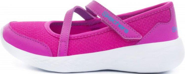 Туфли для девочек GO run 600 - Jazzy Stride, размер 27 Skechers. Цвет: розовый