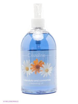 Очищающее масло после депиляции CRISTALINE. Цвет: голубой