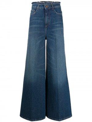 Расклешенные джинсы с завышенной талией Alysi. Цвет: синий