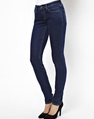 Зауженные джинсы Cleaner Denham. Цвет: синий