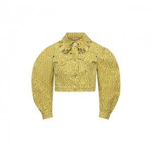 Джинсовая куртка Vivetta. Цвет: жёлтый