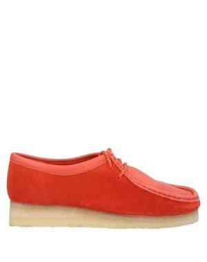 Обувь на шнурках CLARKS ORIGINALS. Цвет: красный