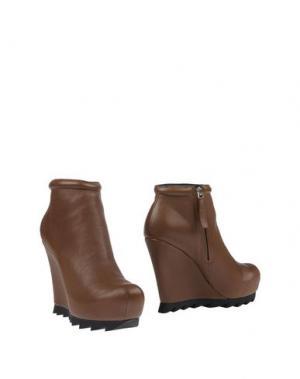 Полусапоги и высокие ботинки CAMILLA SKOVGAARD. Цвет: хаки