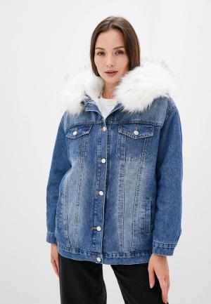 Куртка джинсовая Grand Style. Цвет: синий