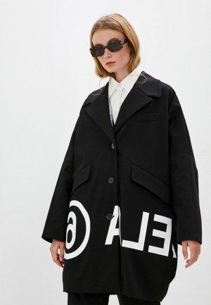 Пальто MM6 Maison Margiela. Цвет: черный