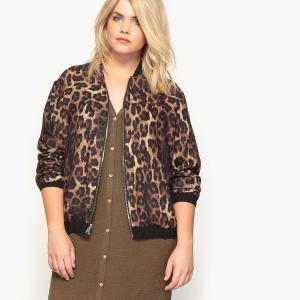 Куртка-бомбер двусторонняя черной/леопардовой расцветок CASTALUNA. Цвет: черный