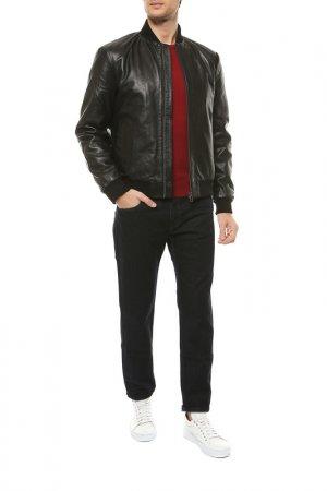 Кожаная куртка REHARD. Цвет: черный