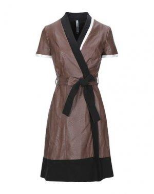 Короткое платье PIANURASTUDIO. Цвет: какао