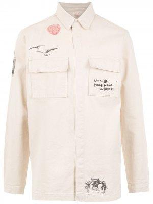 Printed denim jacket Osklen. Цвет: нейтральные цвета