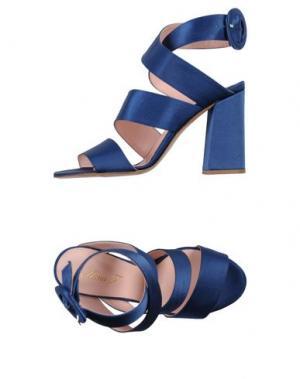Сандалии ANNA F.. Цвет: ярко-синий