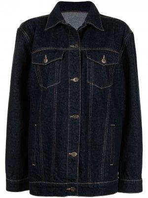 Джинсовая куртка на пуговицах SIR.. Цвет: синий