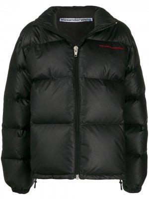 Куртка-пуховик на молнии Alexander Wang. Цвет: черный