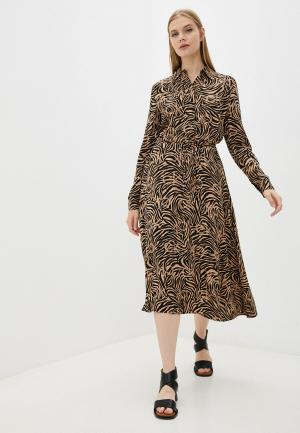 Платье Calvin Klein. Цвет: бежевый