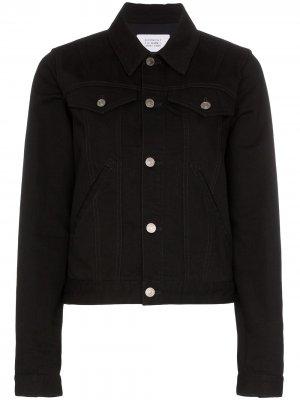 Джинсовая куртка с логотипом Givenchy. Цвет: черный