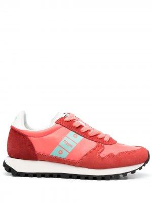 Кроссовки со вставками Blauer. Цвет: розовый