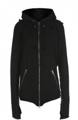 Куртка асимметричного кроя с капюшоном и карманами L.G.B.. Цвет: черный