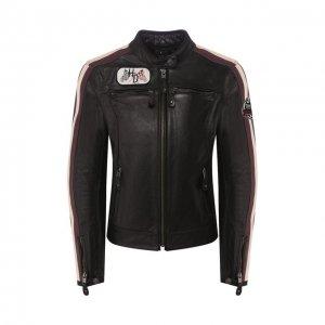 Кожаная куртка Genuine Motorclothes Harley-Davidson. Цвет: чёрный