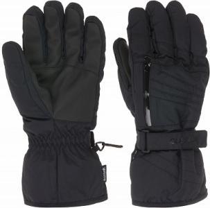 Перчатки мужские , размер 8,5 Glissade. Цвет: черный