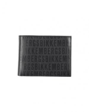 Бумажник BIKKEMBERGS. Цвет: черный