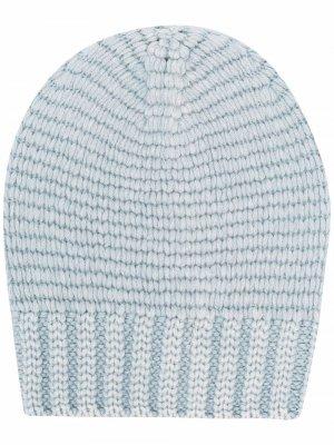 Кашемировая шапка бини Iris Von Arnim. Цвет: синий