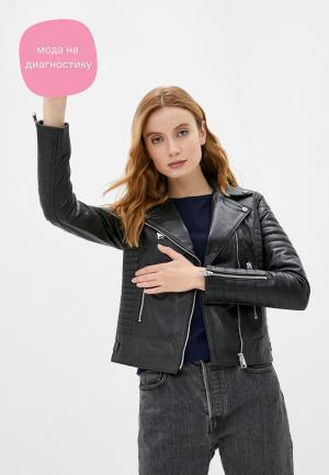 Куртка кожаная Felix Hardy. Цвет: черный