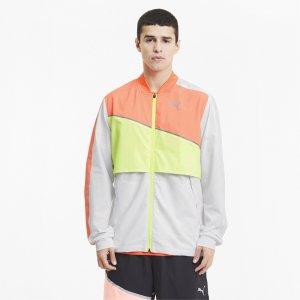 Олимпийка Run Ultra Jacket PUMA. Цвет: белый