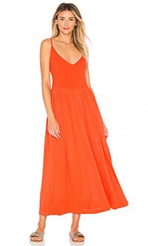 Платье delilah Mara Hoffman. Цвет: оранжевый