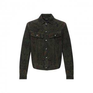 Замшевая куртка Ralph Lauren. Цвет: разноцветный