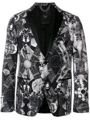 Пиджак с абстрактным принтом Frankie Morello. Цвет: чёрный