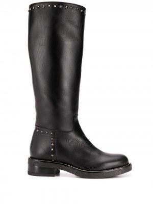 Ботинки с заклепками Albano. Цвет: черный