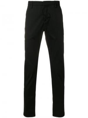 Классические брюки-чинос Dondup. Цвет: черный