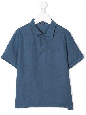 Рубашка-поло на пуговицах Il Gufo. Цвет: синий