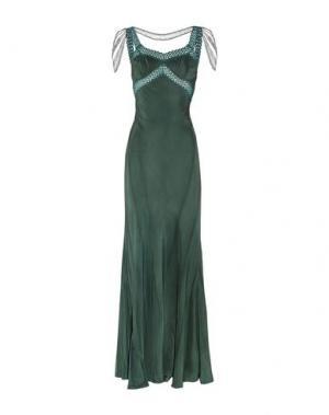 Длинное платье ERICKSON BEAMON. Цвет: цвет морской волны