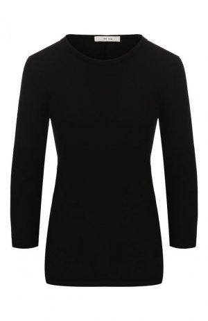 Хлопковый пуловер The Row. Цвет: черный