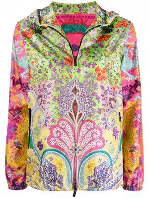 Куртка с принтом пейсли Etro. Цвет: зеленый