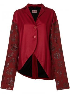 Куртка с принтом Romeo Gigli Pre-Owned. Цвет: красный