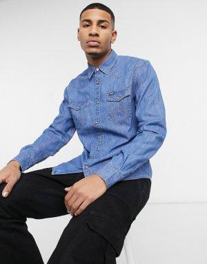 Джинсовая рубашка в стиле вестерн -Голубой Wrangler