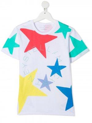 Футболка с логотипом Stella McCartney Kids. Цвет: белый
