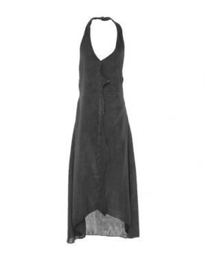 Длинное платье 10SEI0OTTO. Цвет: черный