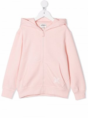 Куртка с капюшоном и логотипом Kenzo Kids. Цвет: розовый