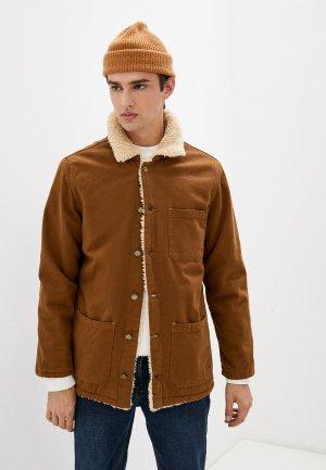 Куртка джинсовая Mossmore. Цвет: коричневый