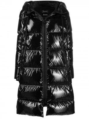 High-shine down-feather coat Herno. Цвет: черный
